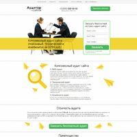 Landing page - Комплексный аудит сайта